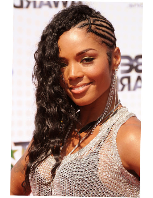 African American Braids Updo Hairstyles Photo