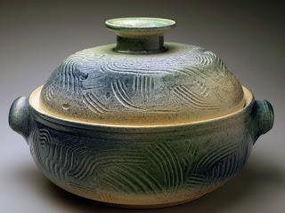 Lidded casserole dish by Future Relics