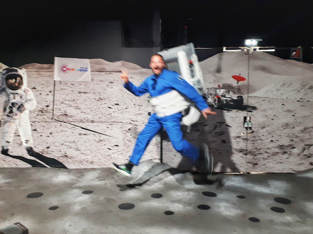 Moon runner in action at cite de l'espace in Toulouse