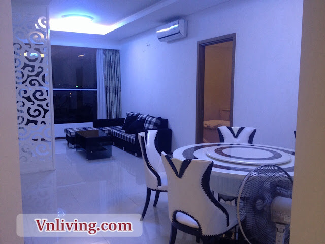 Living Room Thao Dien Pearl Apartment 2 Bedrooms for rent
