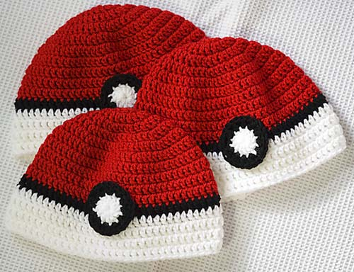 Poke'ball Hat - Free Pattern