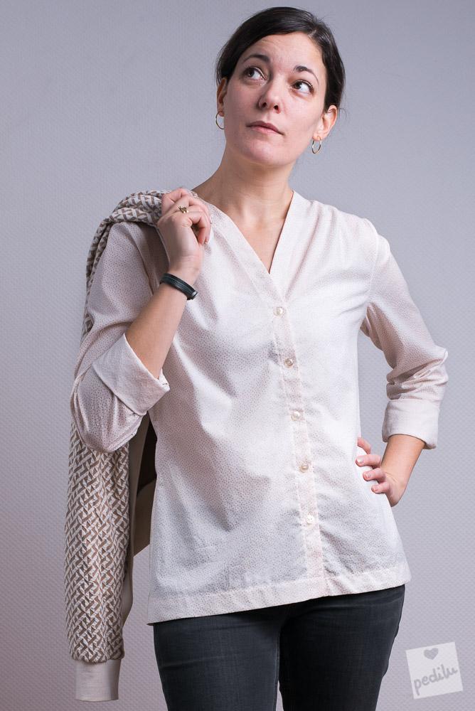 Style: Easy-Chic – Bluse mit Strickjäckchen
