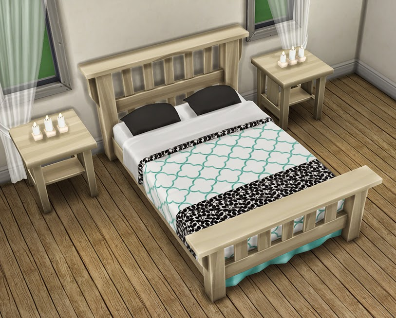 My Sims 4 Blog The Single Mission Bed Recolors By Saudadesims