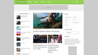 List mag responsive Blogger template