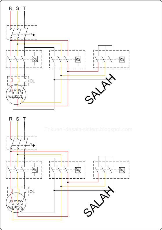 Wiring Diagram Listrik 3 Phase : Rangkaian diagram garis star delta pada motor induksi ac