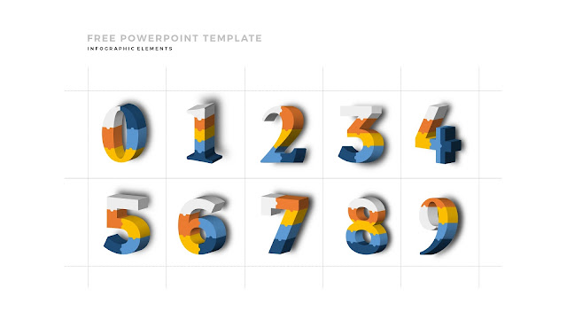 3D Puzzle Infographic Elements For PowerPoint Template with Numbers 0 to 9
