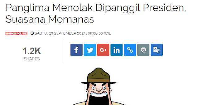 Panglima Menolak Dipanggil Presiden, Suasana Memanas!! Netizen: wkwk.. Kamprett!!