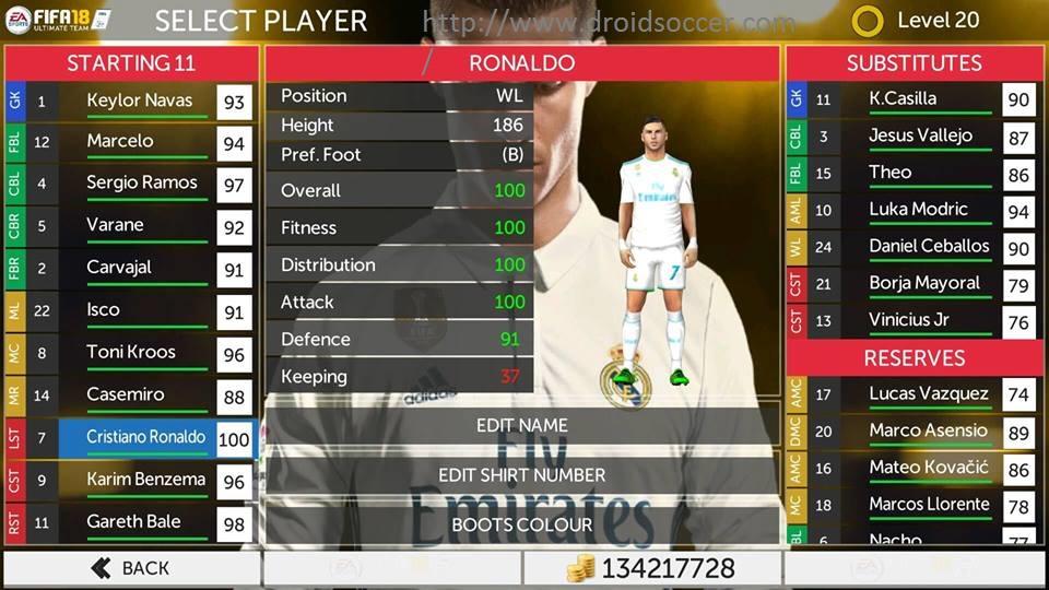 Download Fifa 18 Apk + Mod Data + OBB [v 18 0 4 171755]