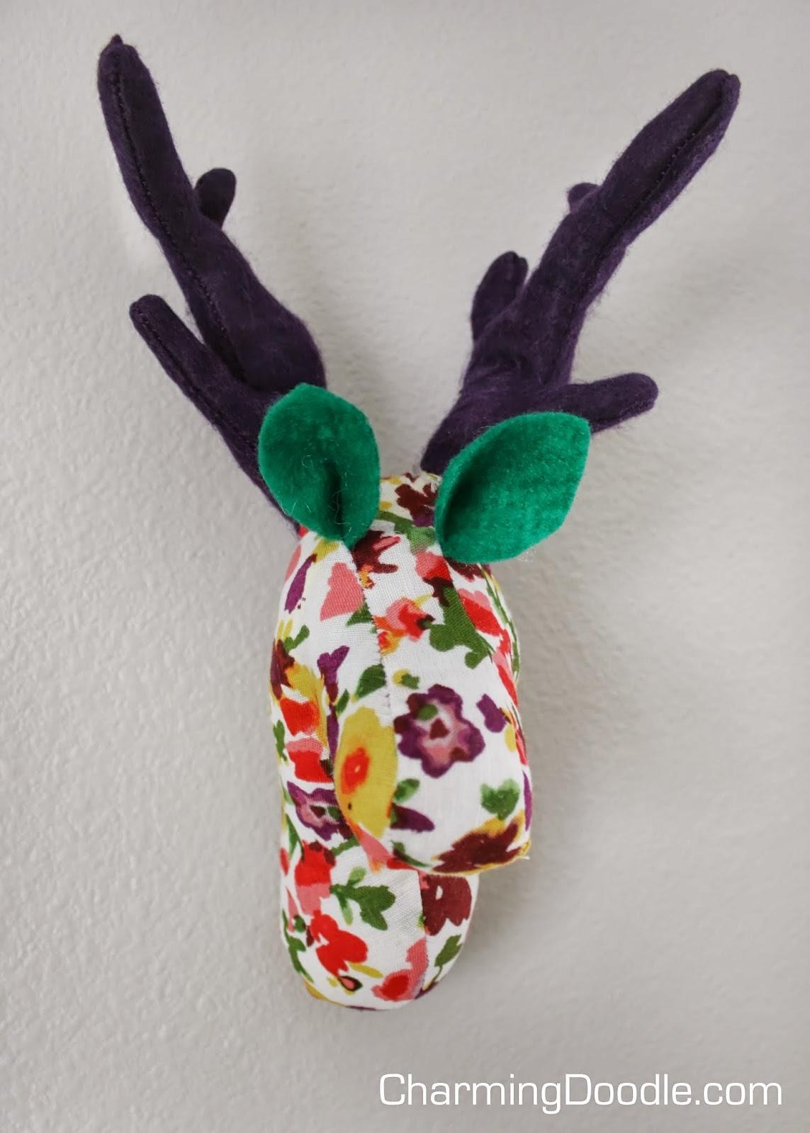 Sewing Tutorial Make A Fabric Deer Head Or Rudolph