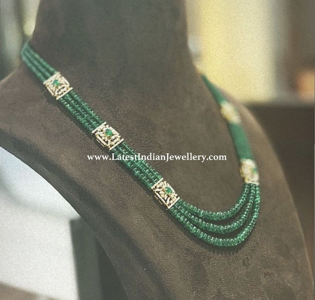 Diamond Clasps Emerald Necklace