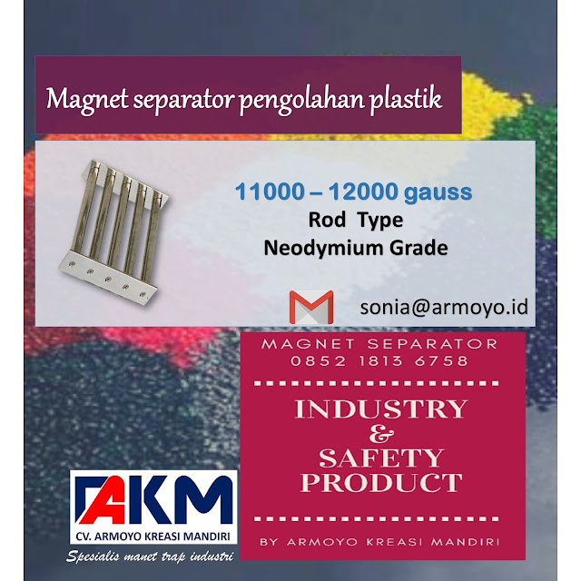 magnet separator plastik