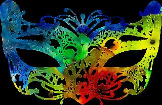 Mascara de carnaval cheia de cor 2 png