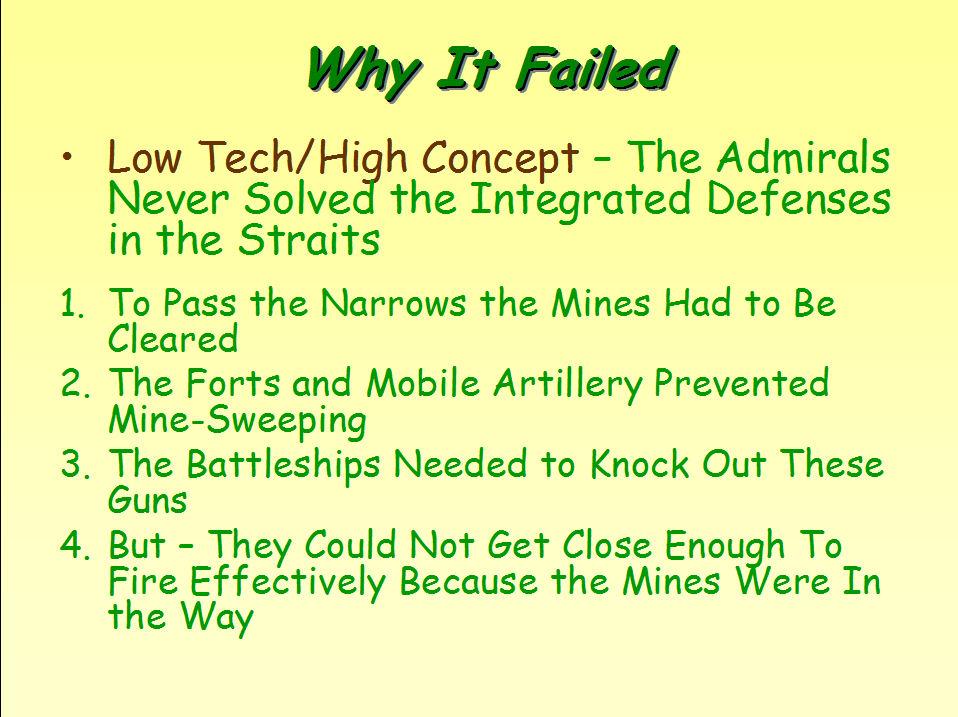 why was gallipoli a failure