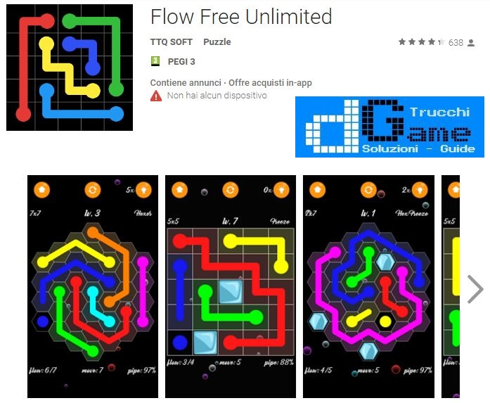 Soluzioni Flow Free Unlimited di tutti i livelli | Walkthrough guide