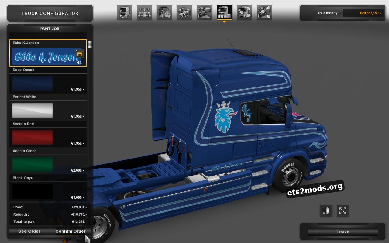 Metallik Ebbe K.Jensen Skin for Scania T