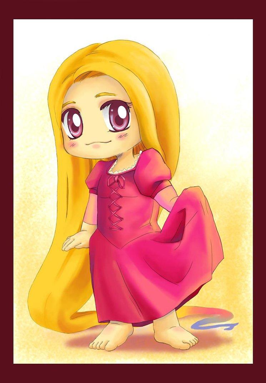 princess Rapunzel chibi công chúa tóc mây 4