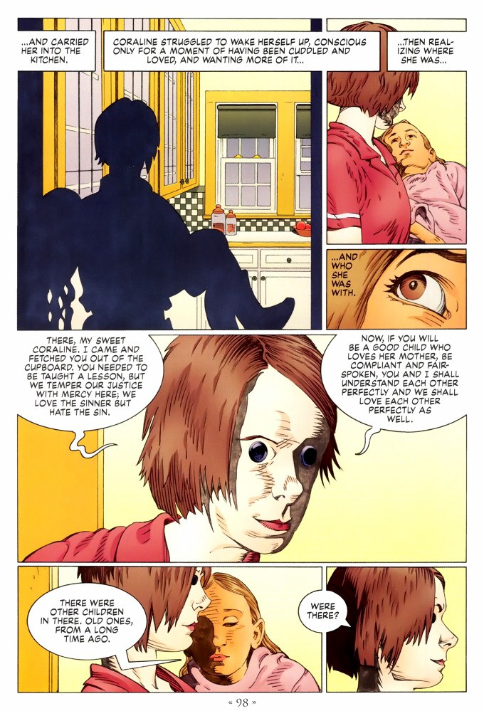 Read page 98, from Nail Gaiman and P. Craig Russell's Coraline graphic novel