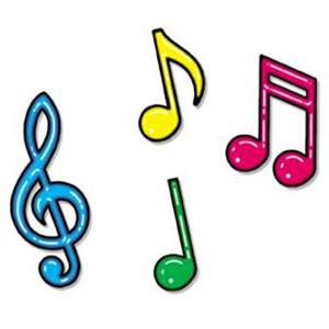 colores infantiles para las notas musicales