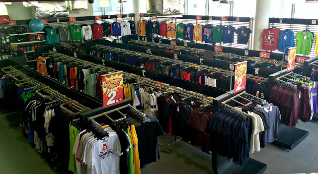 Ground floor of the Sports Box Factory Outlet in Shuwaikh, Kuwait