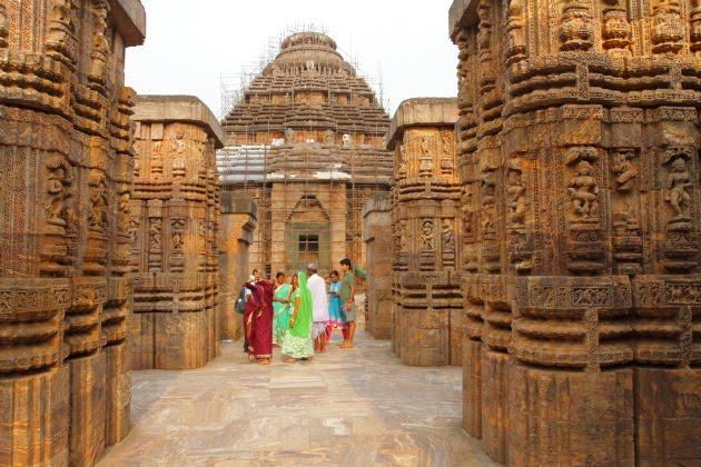 A beauitful Sun temple moment from Konark, Odisha