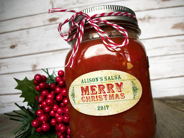 custom oval christmas canning labels for quilted jars