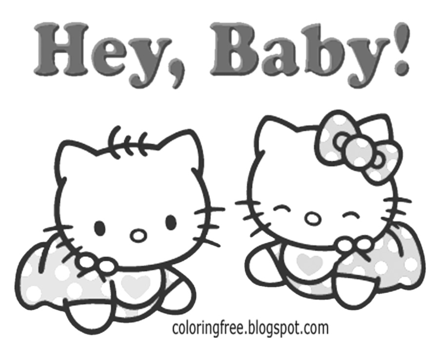 Nice Romper Suit Sweet Baby Hello Kitty Coloring Sheets Free Delightful Printables For Teenage Girls