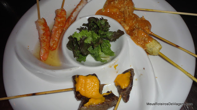 Brochetas Mixtas no Restobar KY