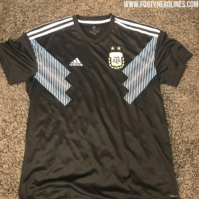 73ad34fc Confirming our previous info, the first pictures of the Argentina 2018  World Cup away kit has leaked. Made by long-term shirt supplier Adidas, ...