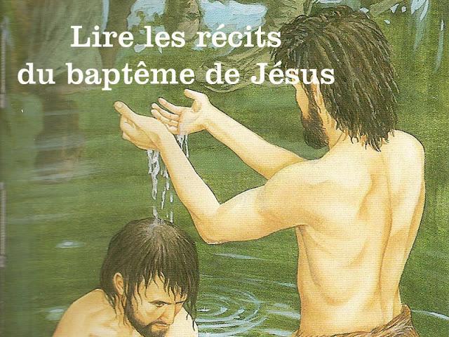 Lire les récits du baptême de Jésus