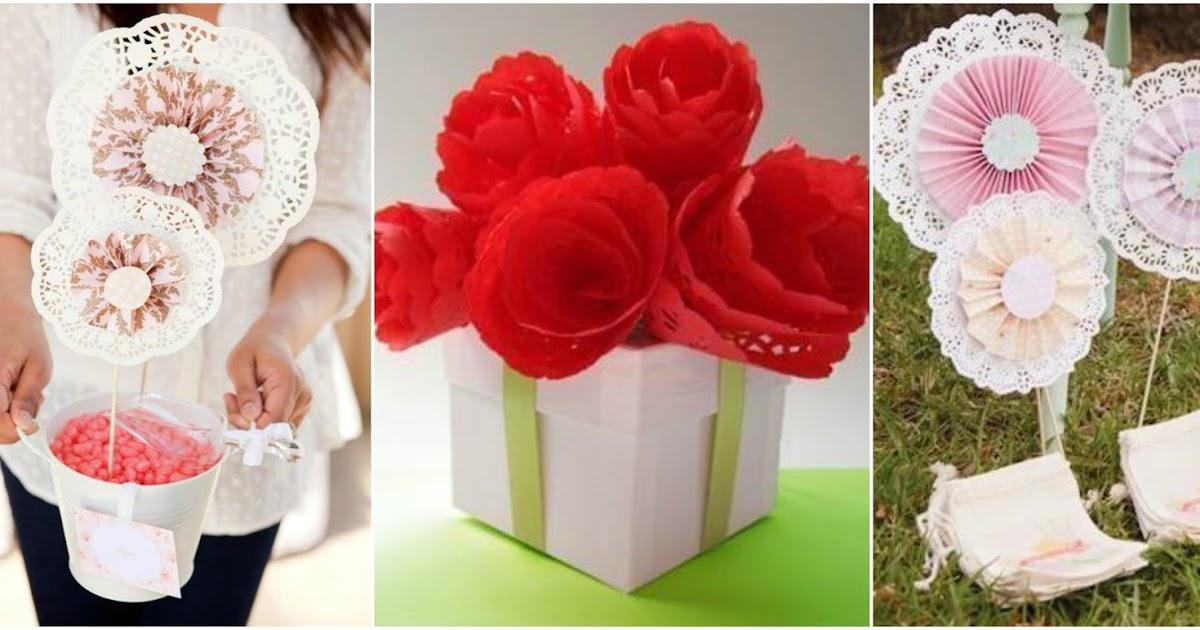 Haz flores hermosas con blondas de papel - Blondas de papel ...