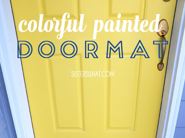 DIY Colorful Striped Door mat