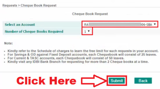 how to get cheque book from idbi bank
