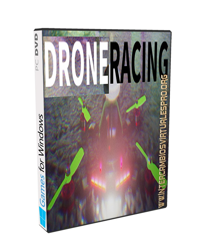 Drone Racing poster box cover