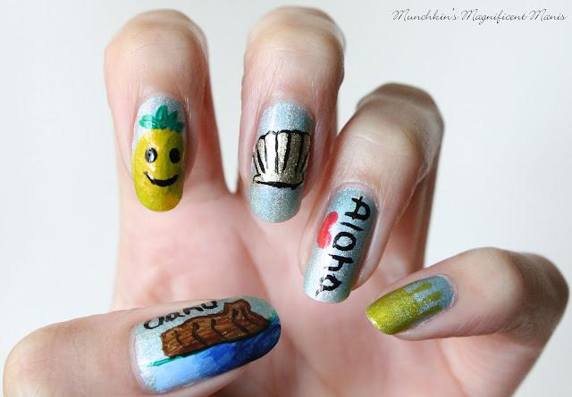 Oahu, Hawaii nail design