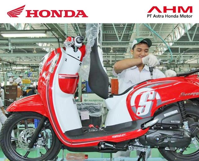 Lowongan Kerja Terbaru 2018 PT Astra Honda Motor Lulusan SLTA, D3, & S1 Besar-Besaran Seluruh Indonesia