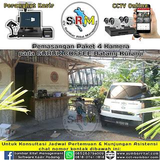 Instalasi CCTV Online pada GUBUK COFFEE Batang Kuranji