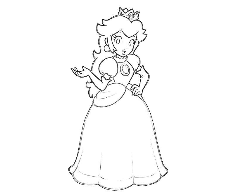 Princess peach and princess rosalina free coloring pages for Free printable princess peach coloring pages