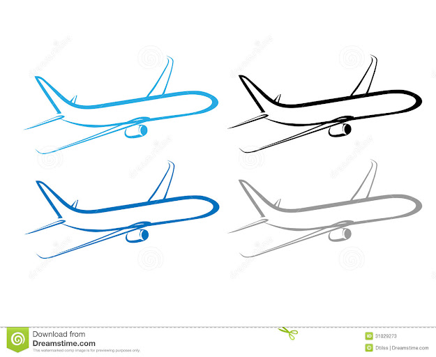 Airplane Plane Airplane Symbol Stylized Airplane