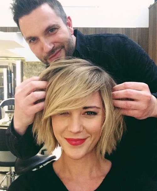 15 popular short hairstyles for round face shape pretty haircut