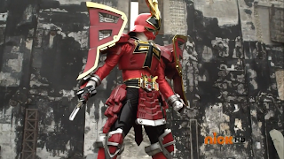 The Red Samurai Ranger in Shogun Mode