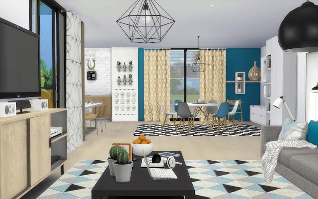 maison style design sims 4
