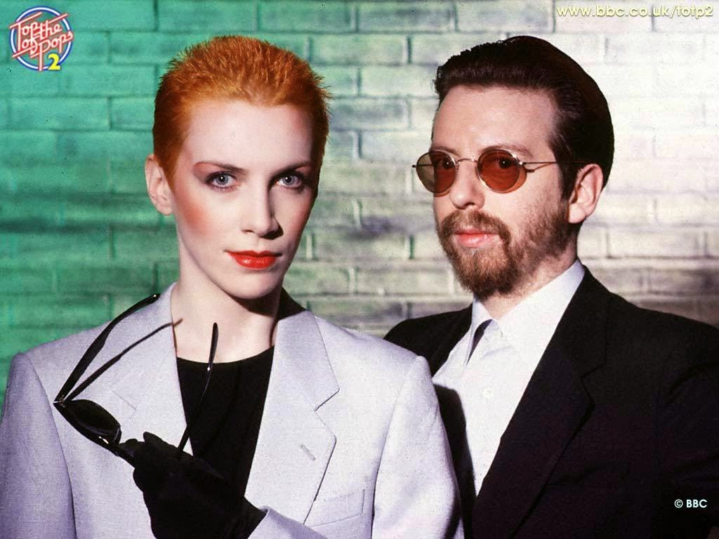 Eurythmics are a British music duo consisting of members Annie Lennox and David A. Stewart. http://www.jinglejanglejungle.net/2015/01/uk1.html #Eurythmics