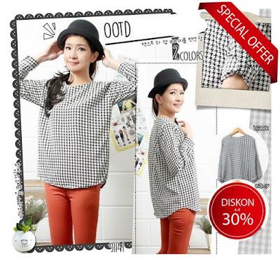 jual baju blouse lengan panjang kasual baju impor korea grosir murah