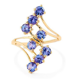 Image showing an elaborate and fashionable tanzanite ring