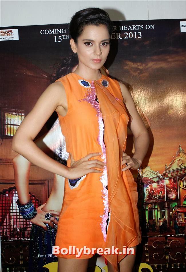 Kangna Ranaut, Kangna Ranaut Promotes RAJJO in Orange Dress