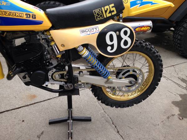 1979 Suzuki Rm125 Vintage Mx Motorcycle For Sale