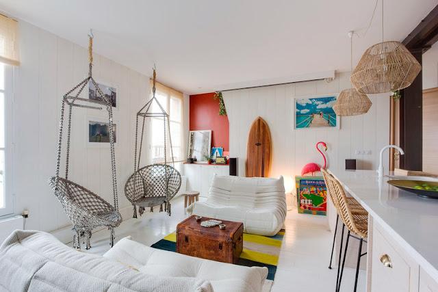 Дизайн-проекты. Парижская квартира в стиле пляжного домика