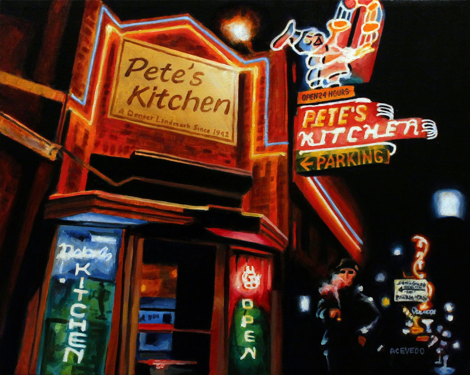 Colfax Avenue: Burning a J Outside Pete\'s Kitchen