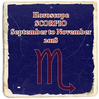 Horoscope Forecast  SCORPIO September to November 2018
