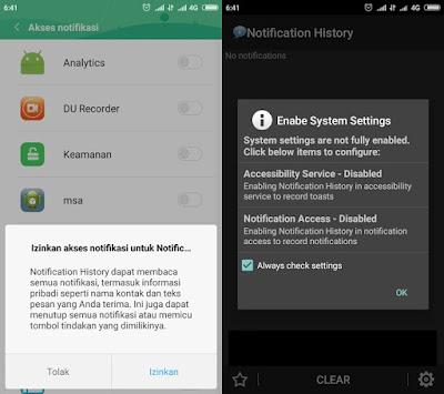 Izin Akses Sejarah Pemberitahuan Aplikasi Untuk Melihat Chat Whatsapp Yang Sudah Dihapus